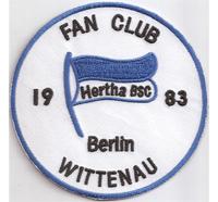 Fan Club HERTHA BSC 1983 Berlin Wittenau Trikot Aufnäher Abzeichen Patch
