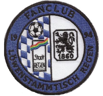 Fanclub 1860 Löwenstammtisch Regen 1994 Fussball Trikot Kutten Abzeichen Aufnäher