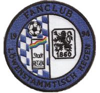 Fanclub 1860 Löwenstammtisch Regen 1994 Fussball Trikot Kutten Abzeichen Aufnähe