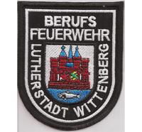 Feuerwehr Berufsfeuerwehr Lutherstadt Wittenberg Uniform Abzeichen Aufnäher