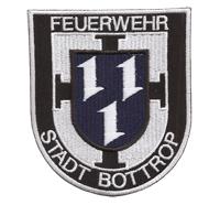 Feuerwehr Berufsfeuerwehr Abzeichen Stadt Bottrop Helm Jacken Aufnäher Patch