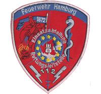 Feuerwehr Hamburg Einsatzabteilung Rettungsleitstelle Abzeichen Aufnäher Patch