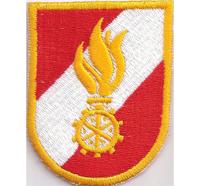 Berufsfeuerwehr Freiwillige Feuerwehr Wappen Feuerrad Abzeichen Aufnäher Patch