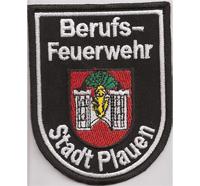 Feuerwehr Berufsfeuerwehr Stadt Plauen Uniform Abzeichen Aufnäher Patch