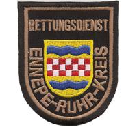 Feuerwehr Rettungsdienst Ennepe Ruhr Kreis Uniform Abzeichen Aufnäher Patch