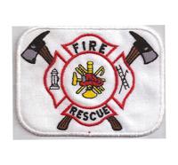 Fire Rescue valounteer department Freiwillige Feuerwehr Abzeichen Aufnäher