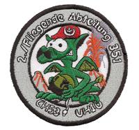 Fliegende Abteilung 351 CH53 UH1D Grisue Drache Feuerwehr Abzeichen Aufnäher