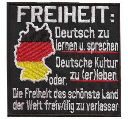 Freiheit Deutschland Karte Der Patriot Biker Rocker Kutte Aufnäher Patch