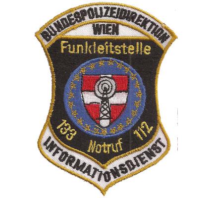 Orig. Funkleitstelle Wien Bundespolizeidirektion Informationsdienst Polizei Aufnäher