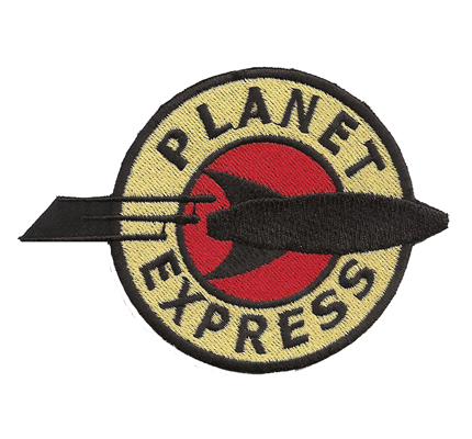 Futurama Planet Express Rakete Simpsons Serie Aufnäher Patch Abzeichen