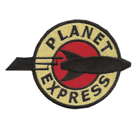 Futurama Planet Express Rakete Simpsons Serie Aufnäher Patch Abzeichen