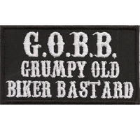 GOBB grumphy old biker bastards Patch Choppers Harley Davidson Aufnäher Patch