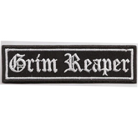 GRIM REAPER, Motorcycle Club Rangabzeichen Biker Aufnäher Patch Abzeichen