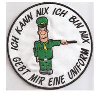 Gebt mir eine Uniform Ultras, hooligans, Biker Anti Polizei Aufnäher