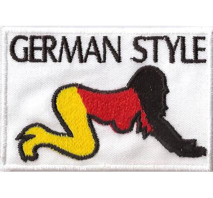 GERMAN Style Doggy Style Patriot Deutschland Fahne Biker Patch Aufnäher