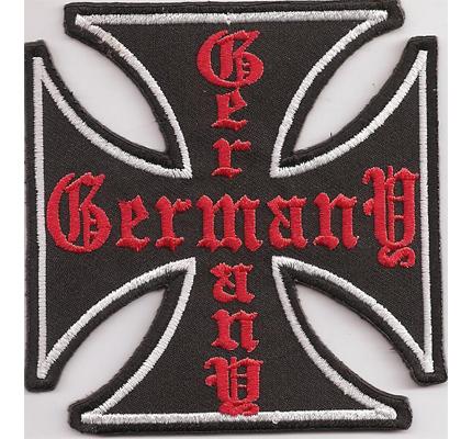 IRON CROSS Germany, Deutsches Eisernes Kreuz, Biker Rocker Aufnäher Patch