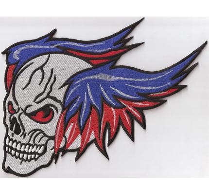 GhostRider XXL ghost rider Backpatch Skull Wing Totenkopf Flügel Biker MC Aufnäher Patch
