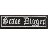 GRAVE DIGGER, Heavy Death Metal Biker Rocker Punk Aufnäher Patch Badge