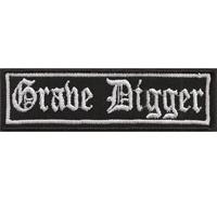 GRAVE DIGGER, Heavy Death Metal Biker Rocker Punk Aufnäher Patch Badge