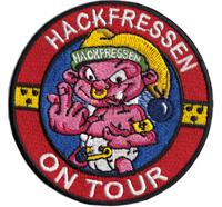 HACKFRESSEN on tour Punk Anarchy Rockabilly Biker Aufnäher Aufbügler Abzeichen