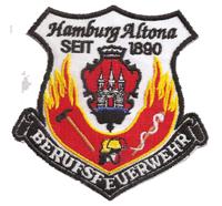 Berufsfeuerwehr HAMBURG Altona Feuerwehr Seit 1890 Patch Aufnäher