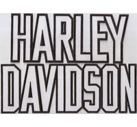 XXL HARLEY DAVIDSON Letters Schrift Motorradjacke Backpatch Aufnäher Patch
