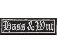 HASS & WUT Heavy Metal Thrash Metal Rocker Biker Aufnäher Patch Badge Abzeichen
