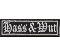 HASS & WUT Heavy Metal Thrash Metal Rocker Biker Aufnäher Patch Badge Abzeichen