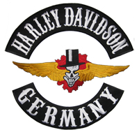 XXL 3er SET HARLEY DAVIDSON & SkullWing & GERMANY Backpatch Biker Aufnäher Patch