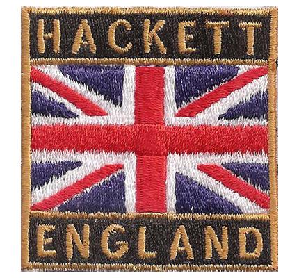 Hackett England english Fahne Flag Label Ettikett Emblem Aufnäher Patch