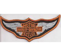 Alter Harley CAP Patch Harley Davidson Cap Kappe Vintage Retro Aufnäher Abzeiche