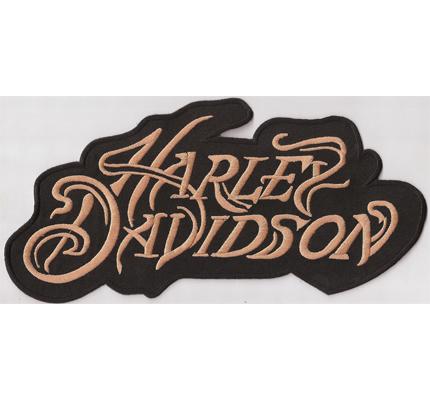 Harley Davidson Athen Retro Vintage Schrift AUFNÄHER BACKPATCH XXL Aufnäher