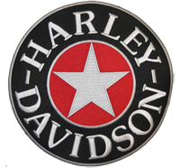 Vintage Harley STAR Stern Harley Davidson BACKPATCH Motoradjacke Aufnäher Patche