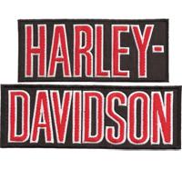 2 SET HARLEY DAVIDSON Schrift Letters Biker Motorrad Jacke Motorcycle Patch Aufnäher