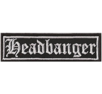 HEADBANGER Heavy Metal Thrash Metal Rocker Biker Aufnäher Patch Badge Abzeichen
