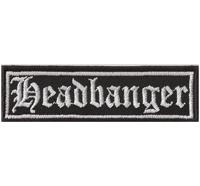 HEADBANGER Heavy Metal Thrash Metal Rocker Biker Aufnäher Patch Badge Abzeichen