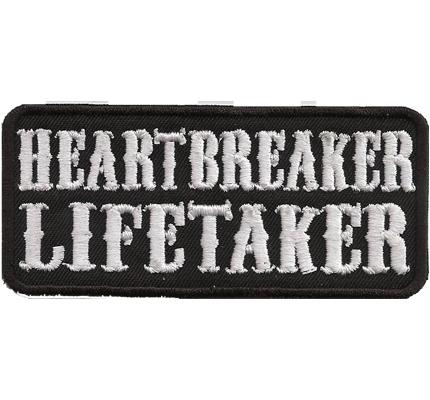 Heartbreaker Lifetaker Motorrad Motocycle Weste Aufbügler Aufnäher Patch