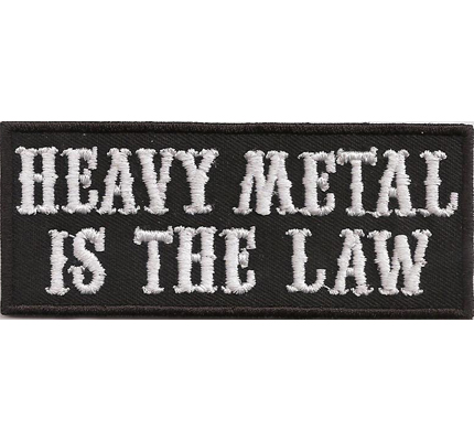 Heavy Metal Is the law Metal Style Weste Iron on Aufbügler Aufnäher Patch