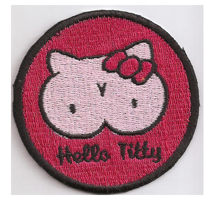 Hello Titty Hello Kitty 60s Rockerbilly Psychobilly Kutte Aufnäher Patch