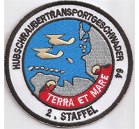 Hubschraubertransportgeschwader 64 terra et mare 2. Staffel Abzeichen Aufnäher