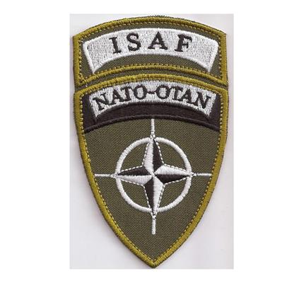 ISAF NATO OTAN Afganistan Bundeswehr Military Aufnäher Abzeichen Patch