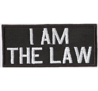 I AM THE LAW, Biker, MC, Outlaw, Biker, Rocker, Patch, Aufnäher, Abzeichen