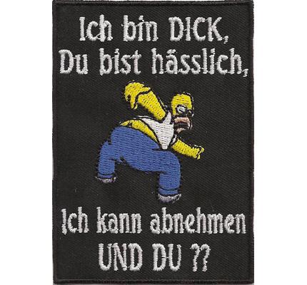 T Shirts Manner Shirt Lustige Spruche Ich Bin Dick Du Bist Hasslich