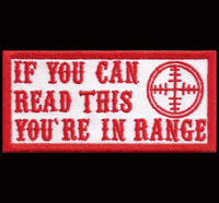 Hells Range If you can Read this you are in Range Biker Red Angels Patch Aufnähe