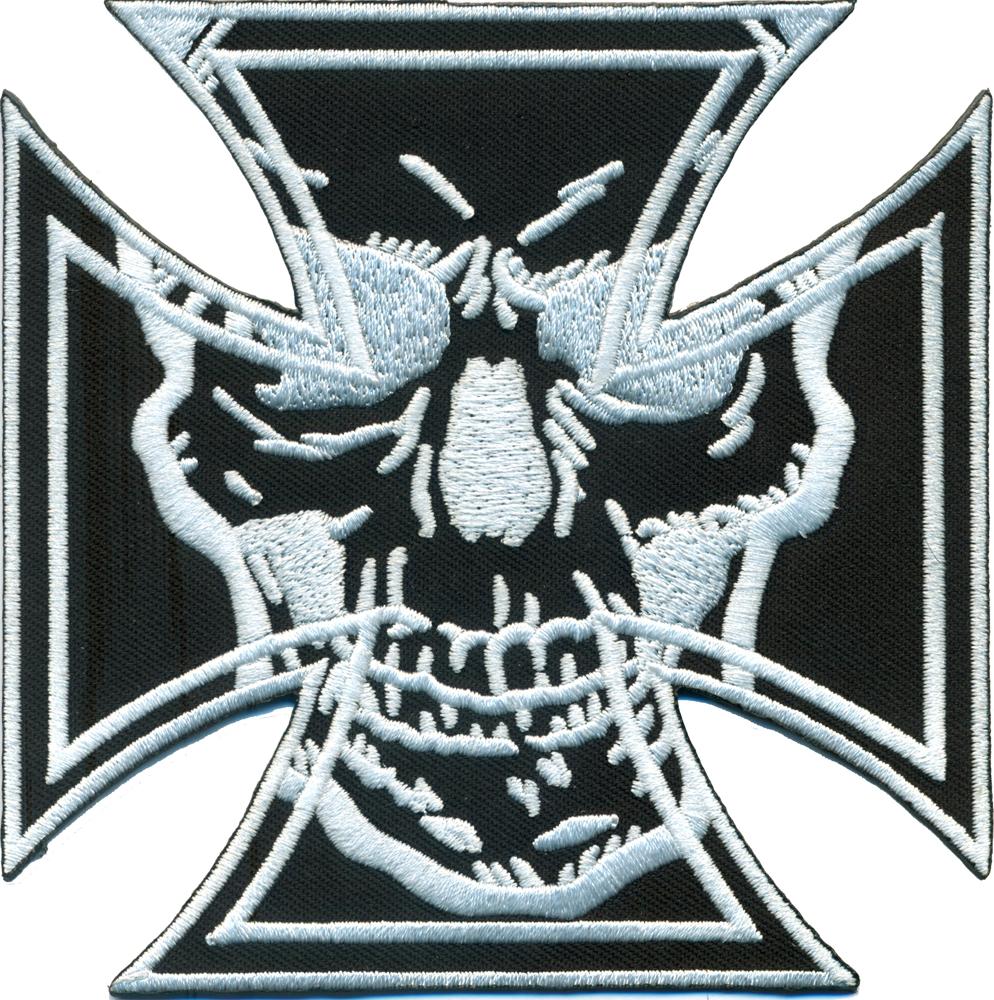 Eisernes Kreuz Aufnäher Iron Cross Biker Motorrad  Patch