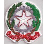 Italy Republica Italiana Italien Flag Fahne Nationalflagge Wappen Aufnäher