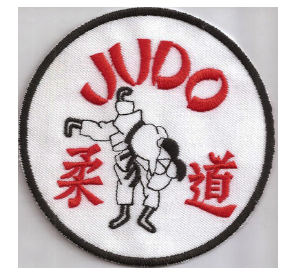 JUDO Judoka Gürtel Judoanzug Karate Tan Abzeichen Aufnäher Patch Aufbügler