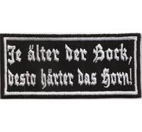 Je älter der Bock, desto härter das Horn Oldass Classic Biker MC Aufnäher Patch