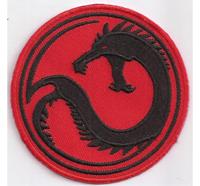 KURITA Battletech Draconis Drache Kampf Abzeichen Patch Aufnäher Emblem