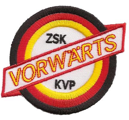 Alter KVP Sportvereinigung Vorwärts 1954 NVA Fussball Aufnäher Patch Abzeichen